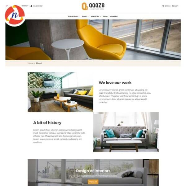 Furniture(Ecommerce Store) HTML Template