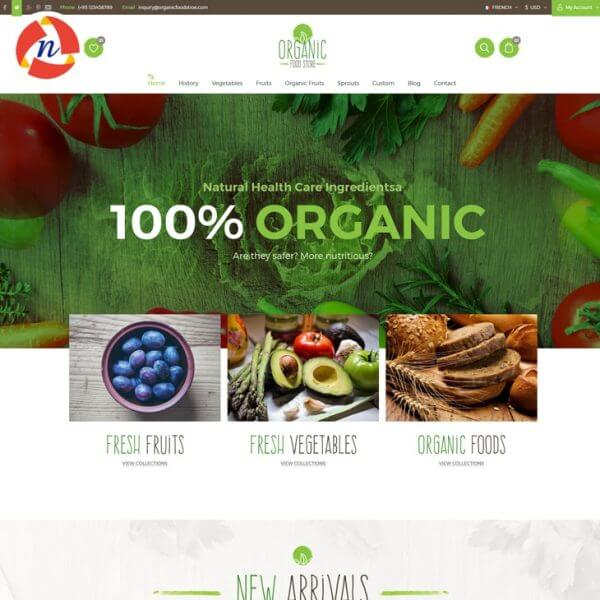 Organic-Foods Ecommerce Store