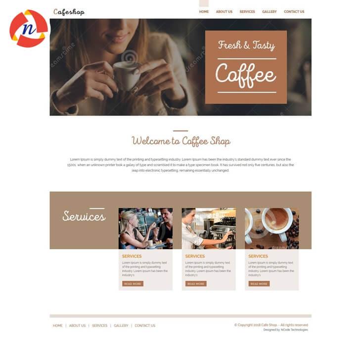 psd template 2 for cafe website premium cafe website template