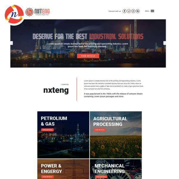 Engineering PSD Theme