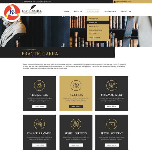 PSD for Law Website