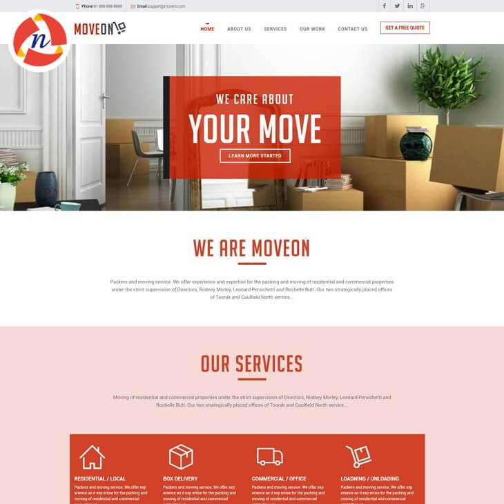 Packu0026GO HTML Template For Packers U0026 Movers Website