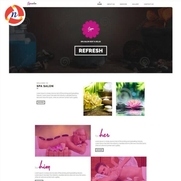 HTML Template For Spa & Saloon