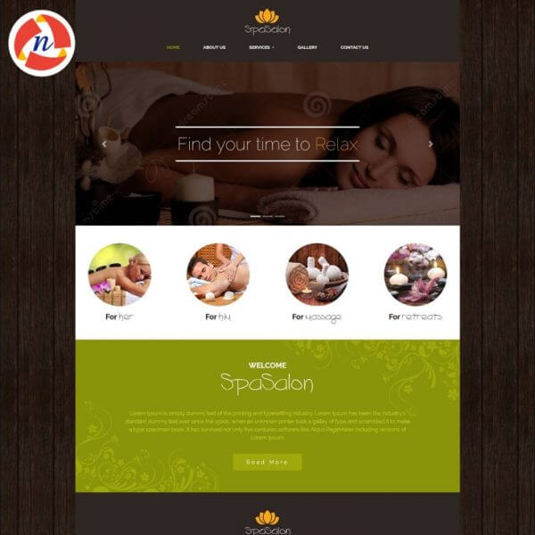 HTML Template 2 For Spa & Saloon Website