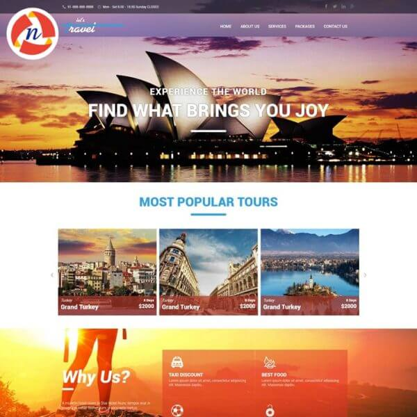 HTML Template For Travel Website