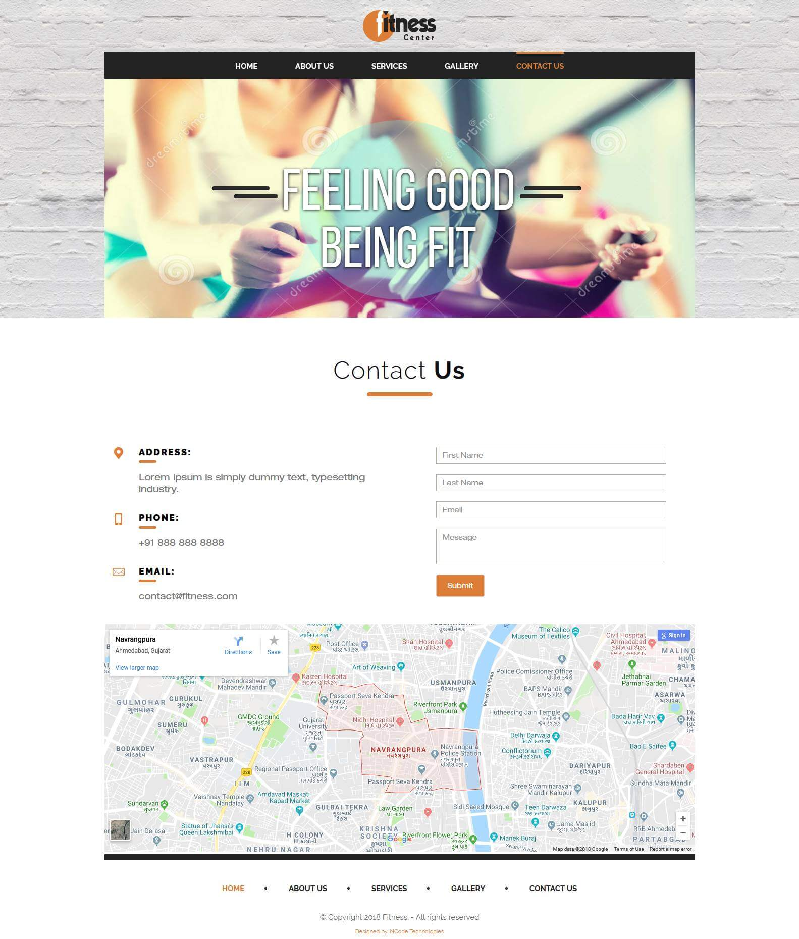 FitO Bootstrap 4 Template for Fitness Website