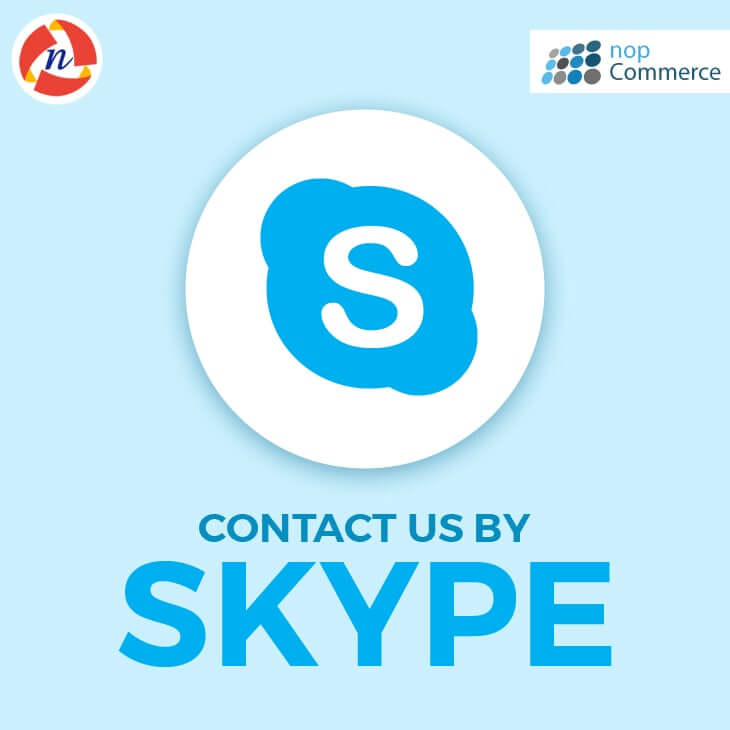 nopCommerce Contact Us By Skype Plugin