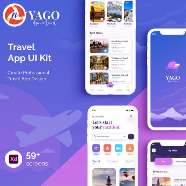 yago mobile app uiux kit